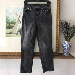 BDG Slim Straight High Rise Distressed Jeans Denim